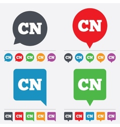 Chinese language sign icon cn china translation vector