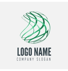 Abstract sphere logo label badge emblem or vector