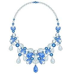 Diamond necklace vector