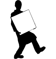 Moving guy silhouette vector