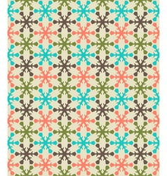 Retro color snowflake seamless pattern vector