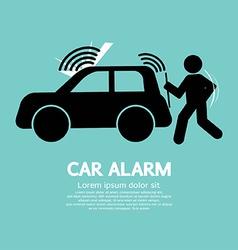 Car alarm piracy prevention symbol vector