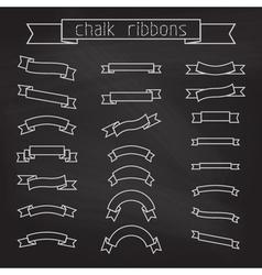 Set of chalk ribbons vector