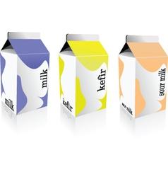 Milk carton vector