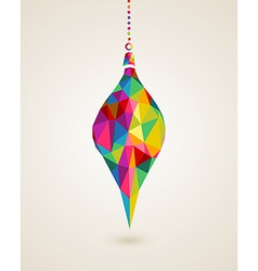 Merry christmas multicolors hanging bauble vector
