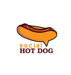 Social hot dog concept design template vector