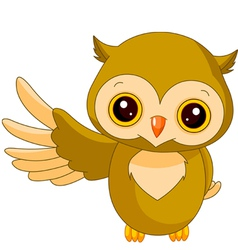 Fun zoo owl vector