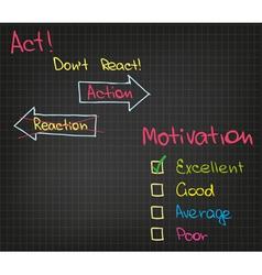 Motivation action vector