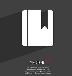 Book bookmark icon symbol flat modern web design vector