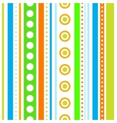 Vertical stripes and circles seamless vector