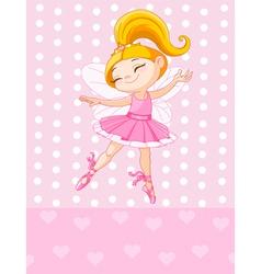 Little blond princess vector