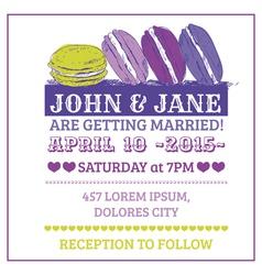 Wedding invitation card - macaroon theme vector