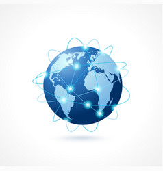 Network globe icon vector