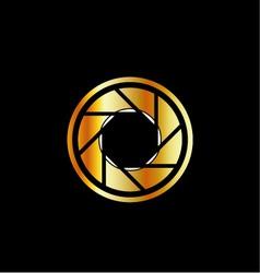 Golden photography logo vector