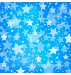 Abstract blue background with glitter stars vector