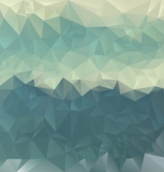 Turguoise blue sea polygonal triangular pattern vector
