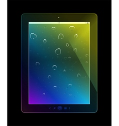 Tablet pc on black background vector