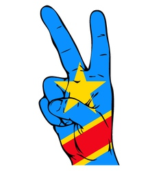 Peace sign of the congo flag vector