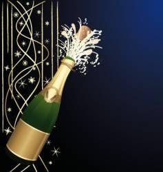 Festive open champagne vector