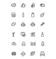 Food outline icons 11 vector