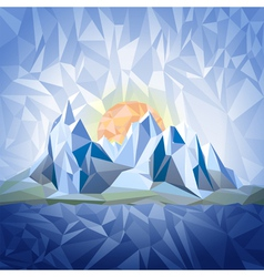 Stylized landscape with mountains vector