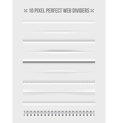 Web dividers design elements vector