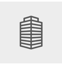 Small office building thin line icon vector