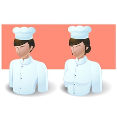 People icons chef man and women vector