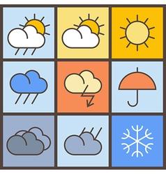 Weather symbols vector