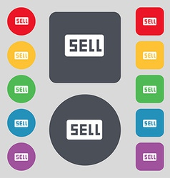 Sell contributor earnings icon sign a set of 12 vector