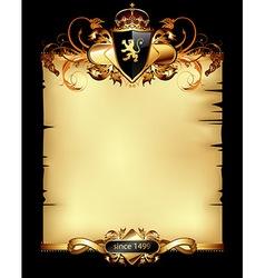 Ornate heraldic frame vector