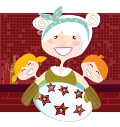 Grandmother with perfect cookies illu vector