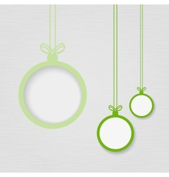 Xmas balls on textured paper vector