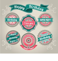 Calligraphic design elements birthday vector
