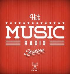Radio poster vector