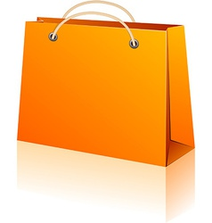 Orange shopping bag vector