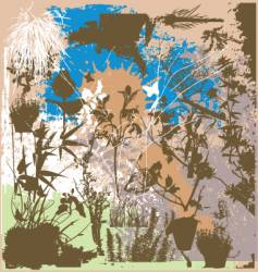 Nature grunge elements vector