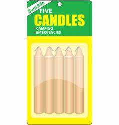 Camping candles vector