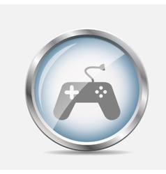 Game and fun glossy icon vector