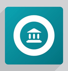 Flat tribunal icon vector
