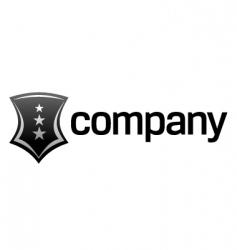 Strong shield logo vector