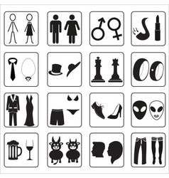 Man and woman public toilets icons eps10 vector