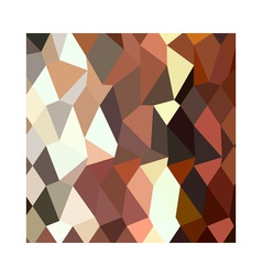 Burnt sienna abstract low polygon background vector