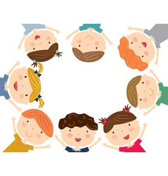 Happy kids isolated vector