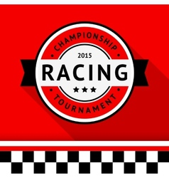 Racing badge 04 vector