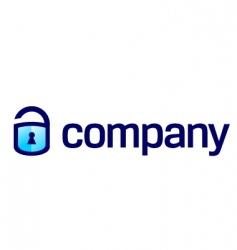 Lock security business vector