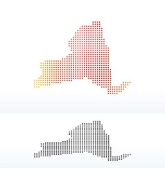 Map of usa new york state with dot pattern vector