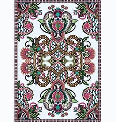 Floral ornamental seamless carpet vector