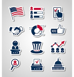Voting and elections paper cut icons vector
