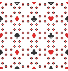 Seamless pattern of card suits vector
